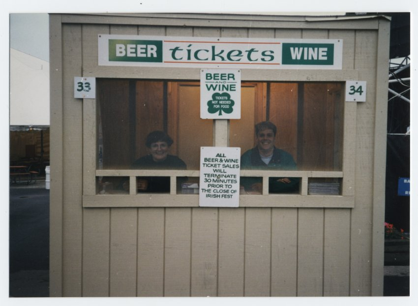 Beer and Wine Ticket Selling Booth
