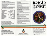 Milwaukee Irish Fest Grounds Brochure, 1981