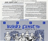Milwaukee Irish Fest Grounds Brochure, 1986