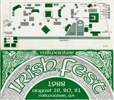 Milwaukee Irish Fest Grounds Brochure, 1988