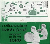Milwaukee Irish Fest Grounds Brochure, 1989