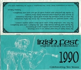 Milwaukee Irish Fest Grounds Brochure, 1990