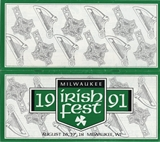 Milwaukee Irish Fest Grounds Brochure, 1991