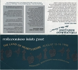Milwaukee Irish Fest Grounds Brochure, 1998