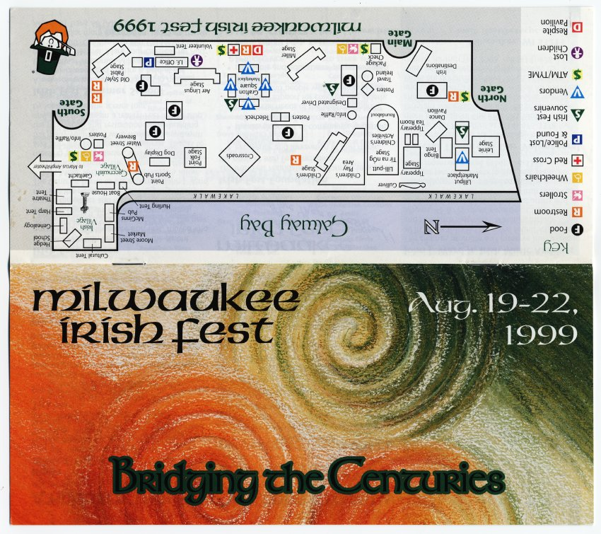 Milwaukee Irish Fest Grounds Brochure, 1999