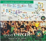 Milwaukee Irish Fest Grounds Brochure, 2010