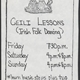 Ceili Lesson Schedule