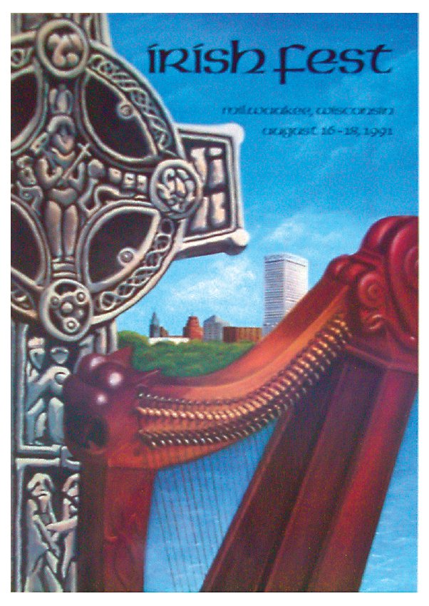 1991 Milwaukee Irish Fest Poster