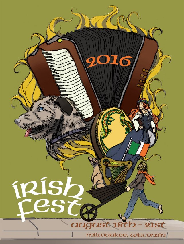 2016 Milwaukee Irish Fest Poster