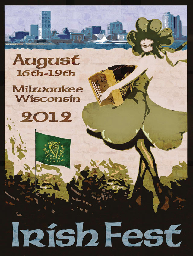 2012 Milwaukee Irish Fest Poster
